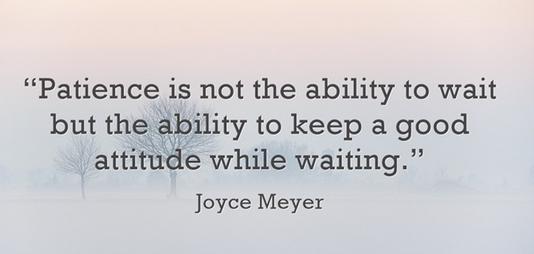 Joyce on patience